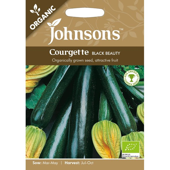 Fræ Courgette Black Beauty Organic
